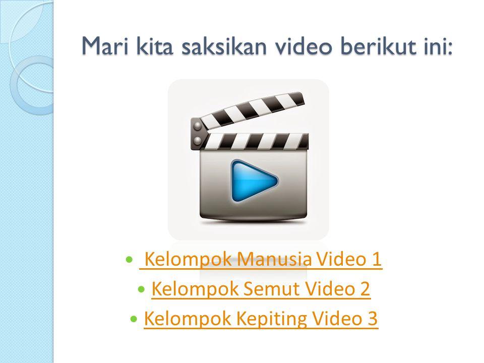 Mari kita saksikan video berikut ini: