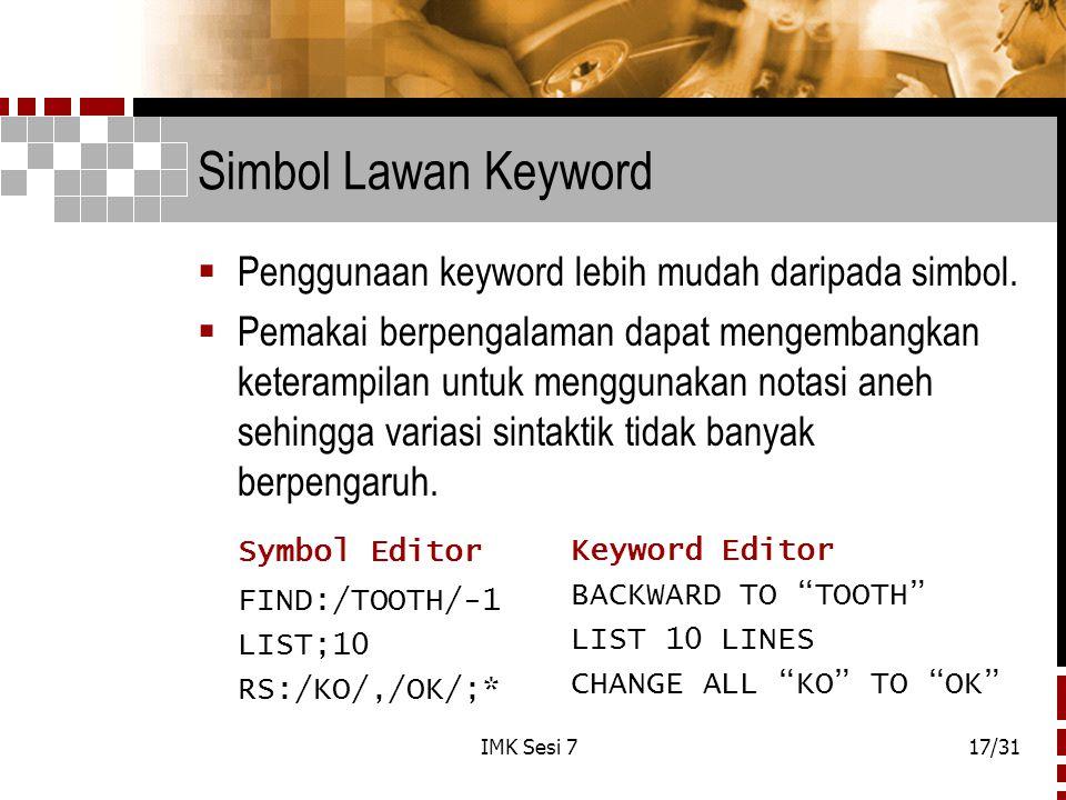Simbol Lawan Keyword Symbol Editor