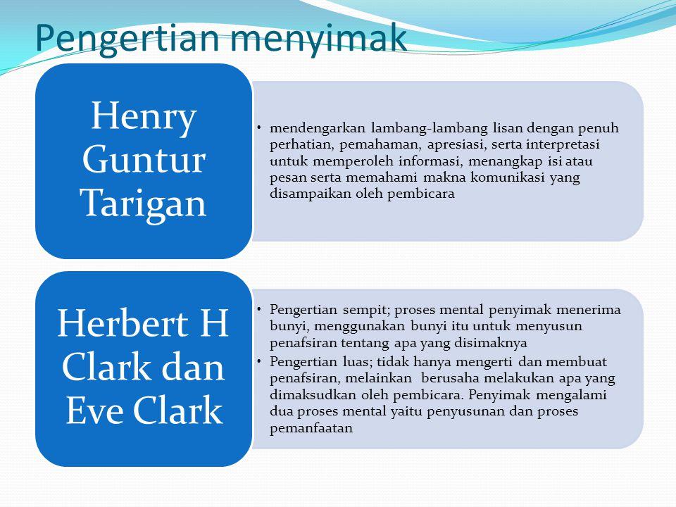 Herbert H Clark dan Eve Clark