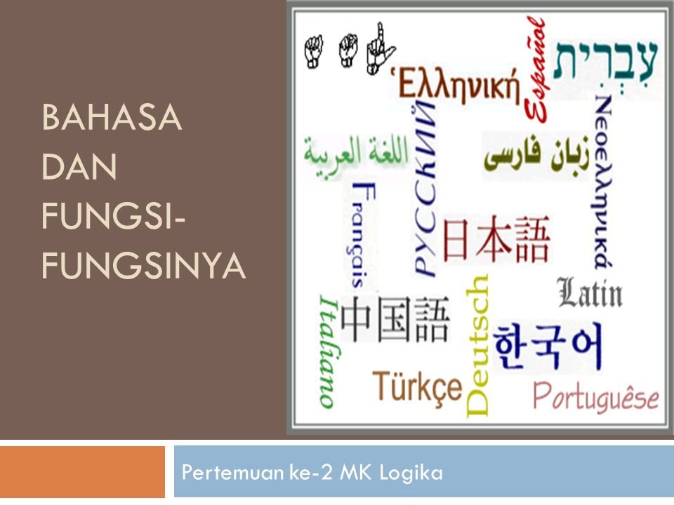 Bahasa dan fungsi-fungsinya