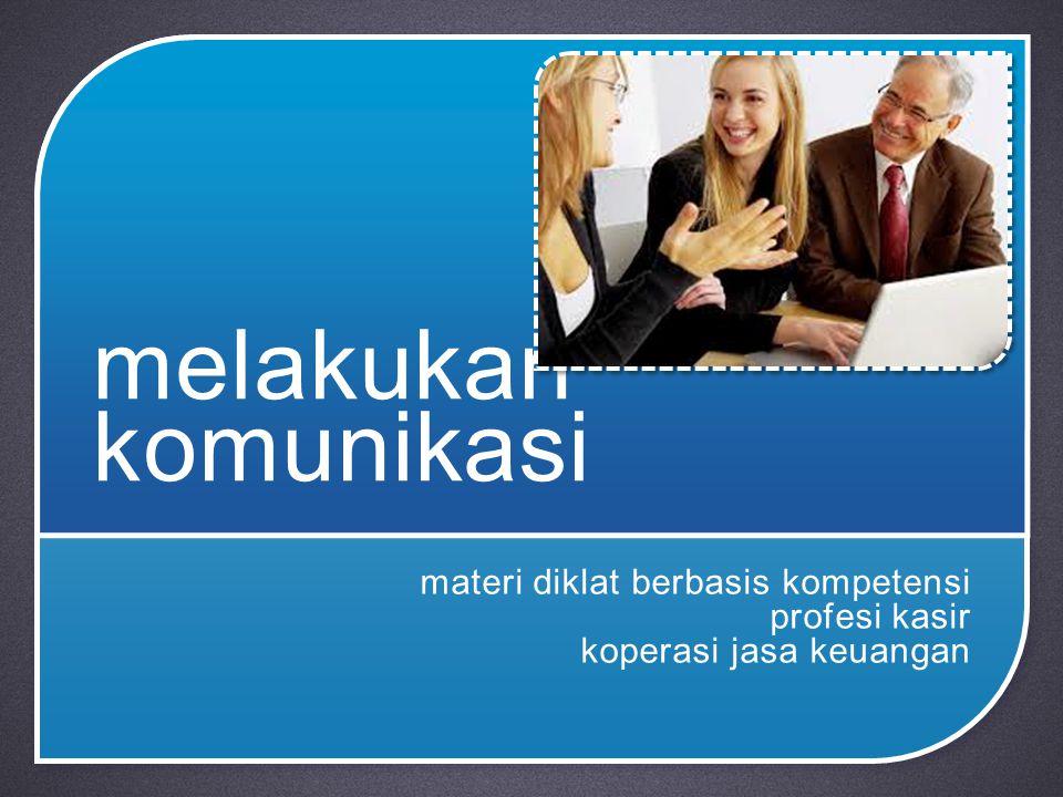 materi diklat berbasis kompetensi profesi kasir koperasi jasa keuangan