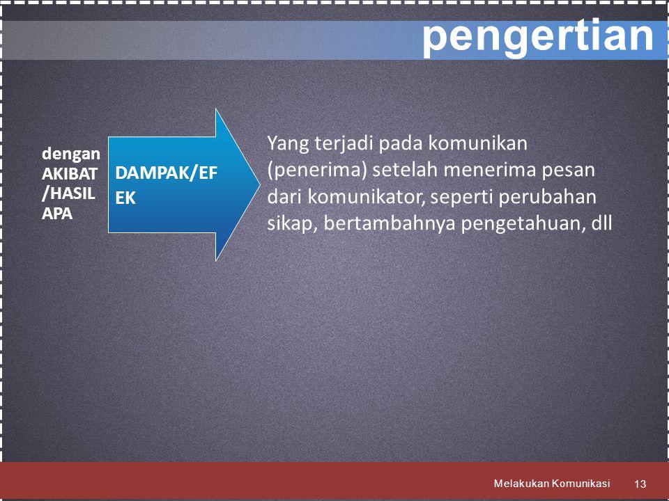 pengertian DAMPAK/EFEK.