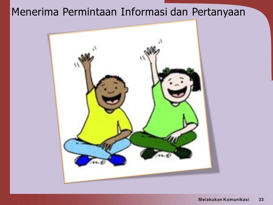 Menerima Permintaan Informasi dan Pertanyaan