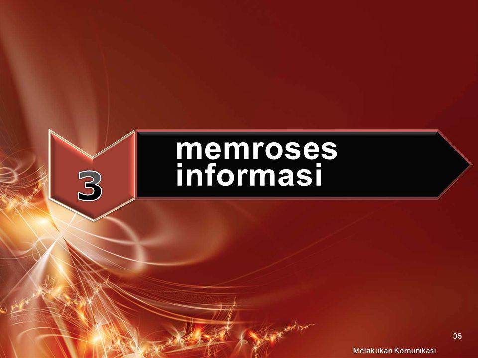 3 memroses informasi Melakukan Komunikasi