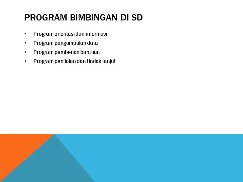 Program bimbingan di sd