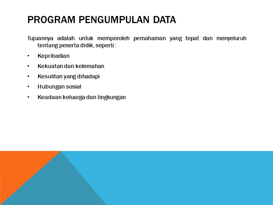 Program pengumpulan data
