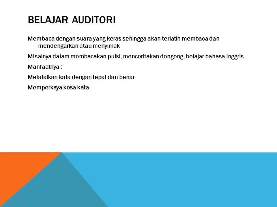 Belajar auditori
