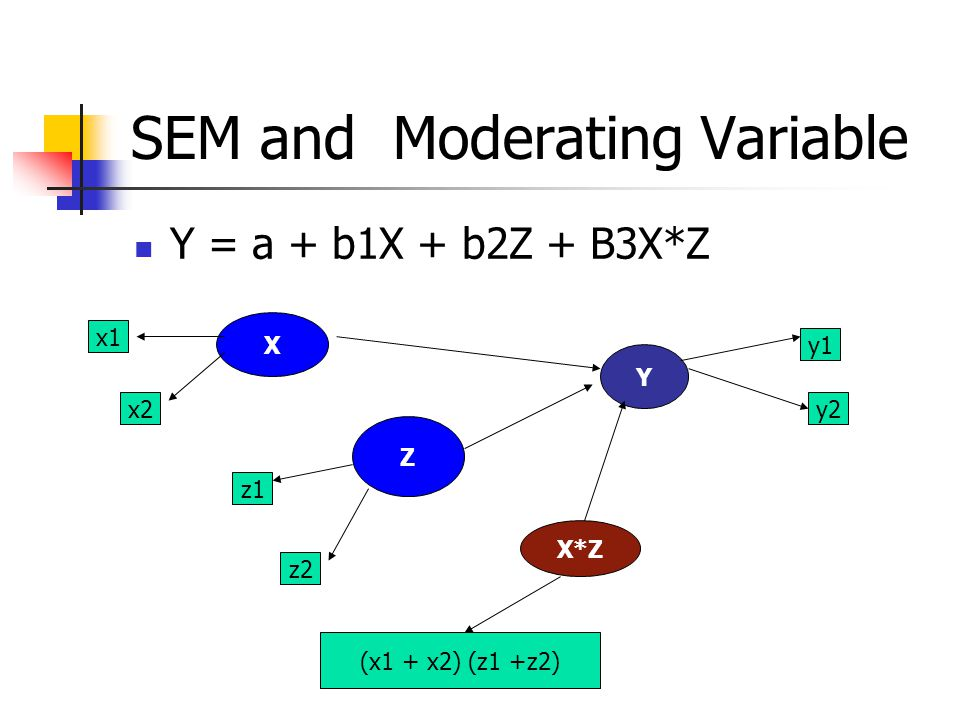 SEM and Moderating Variable