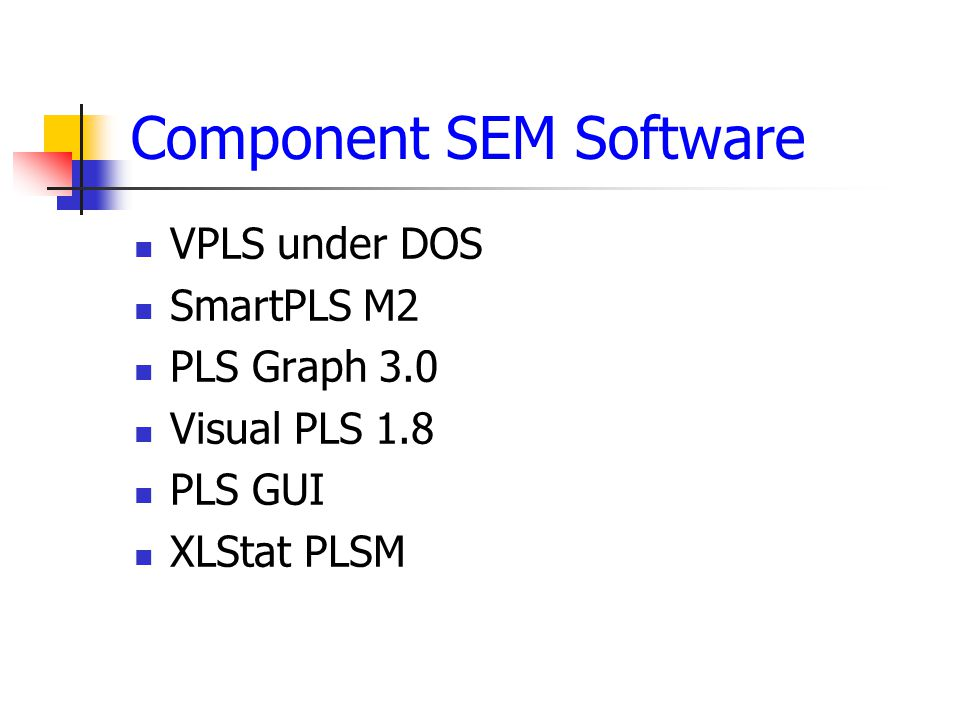 Component SEM Software