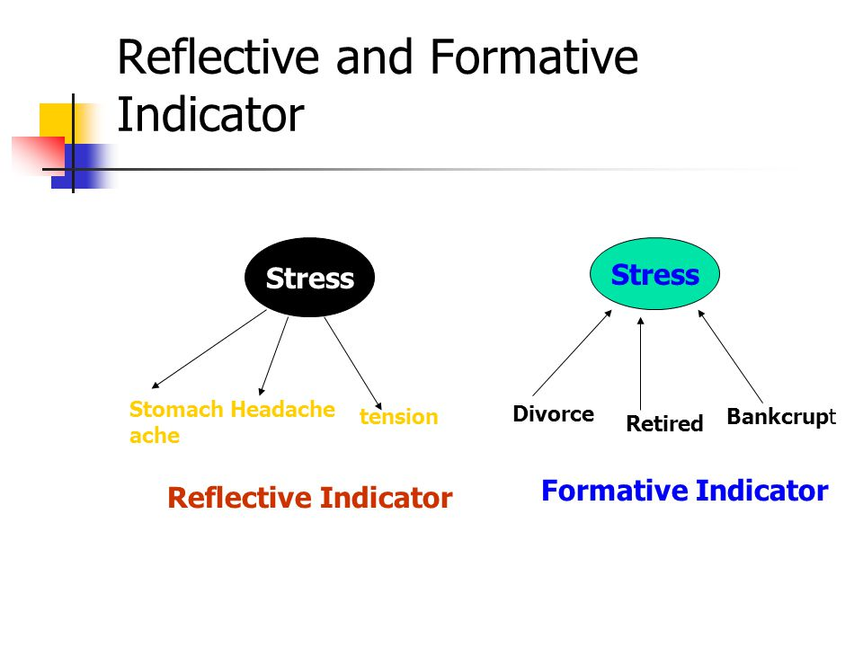 Reflective and Formative Indicator