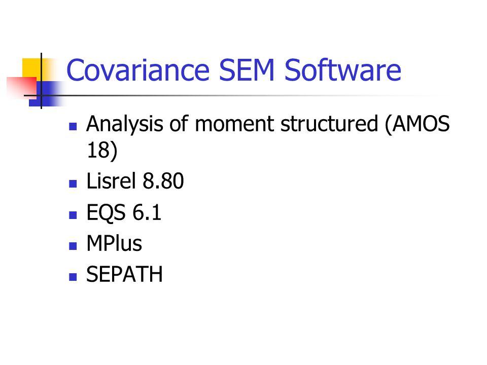Covariance SEM Software