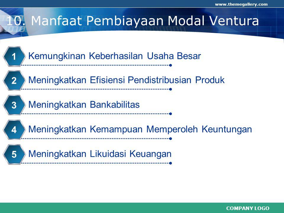 10. Manfaat Pembiayaan Modal Ventura
