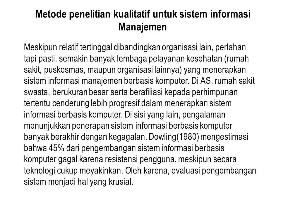 Metode penelitian kualitatif untuk sistem informasi Manajemen