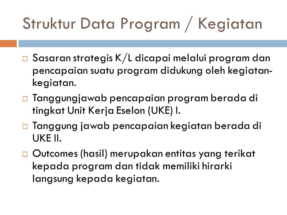 Struktur Data Program / Kegiatan