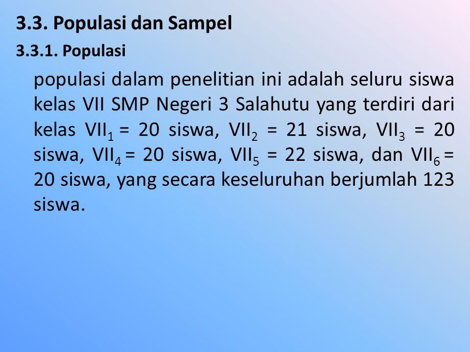 3.3. Populasi dan Sampel 3.3.1. Populasi.