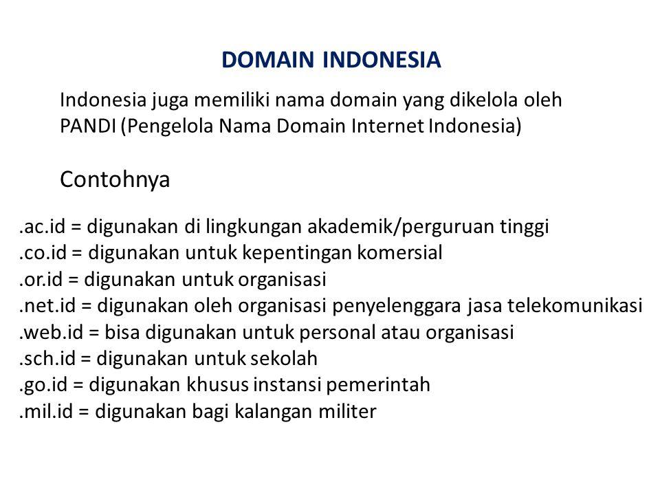 DOMAIN INDONESIA Contohnya
