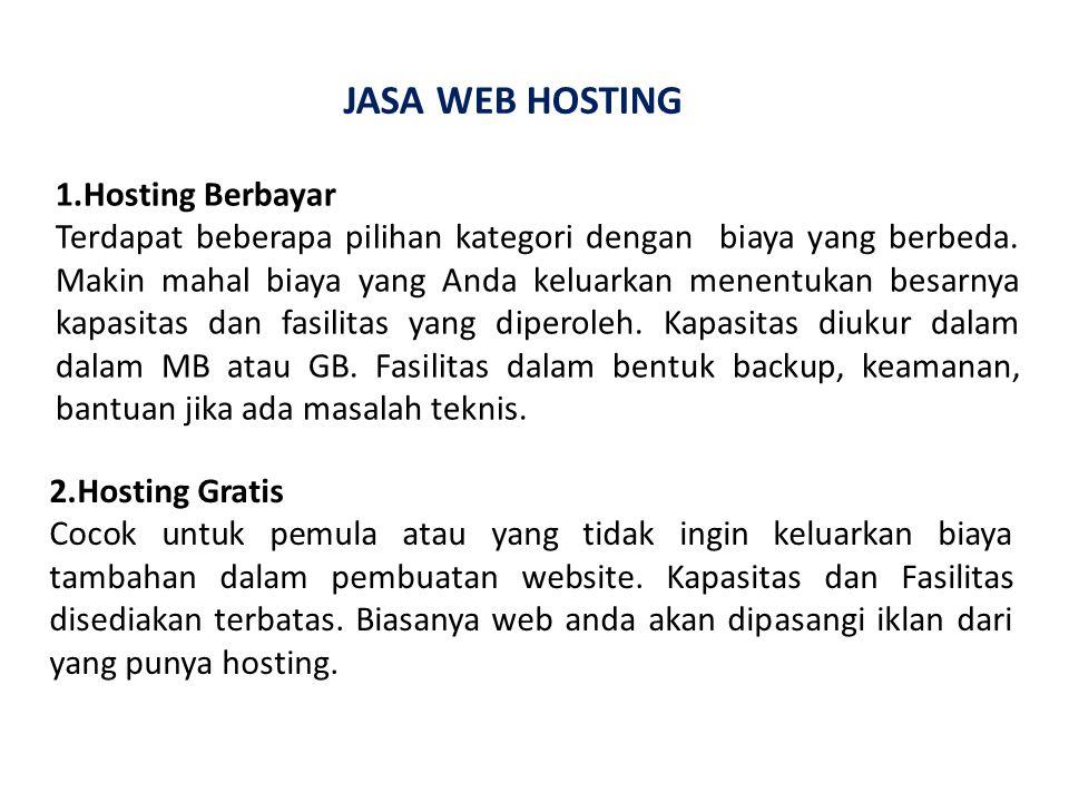 JASA WEB HOSTING 1.Hosting Berbayar