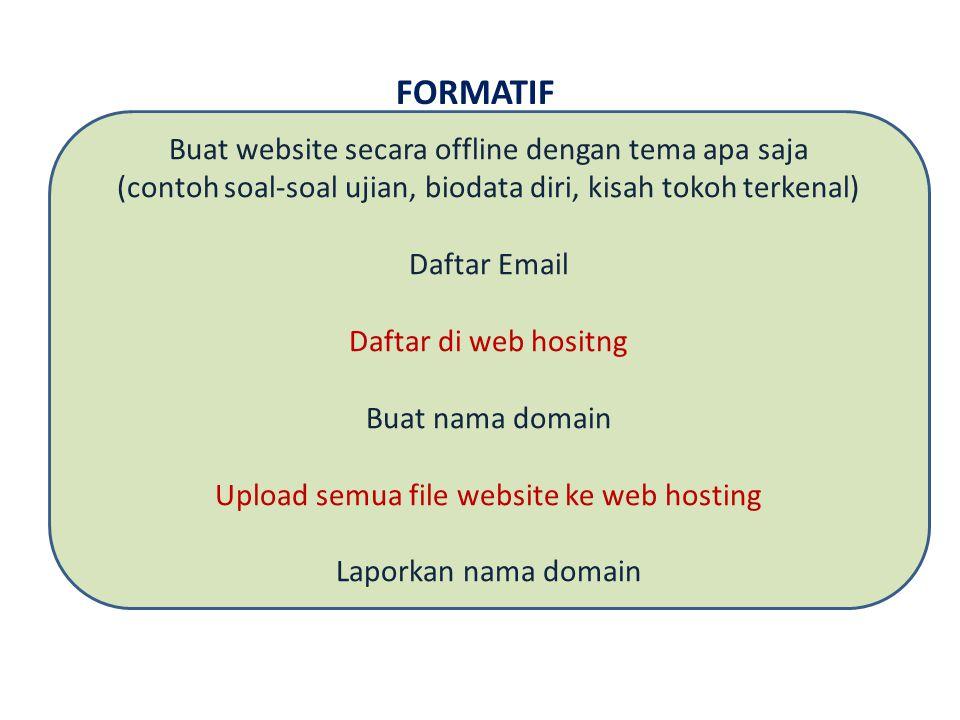 FORMATIF Buat website secara offline dengan tema apa saja