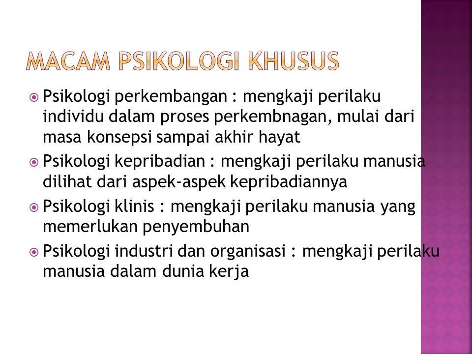Macam psikologi khusus