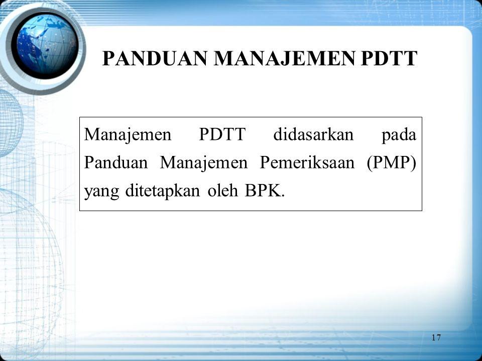 PANDUAN MANAJEMEN PDTT