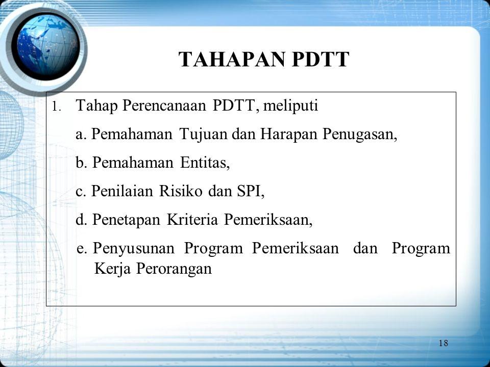 TAHAPAN PDTT Tahap Perencanaan PDTT, meliputi