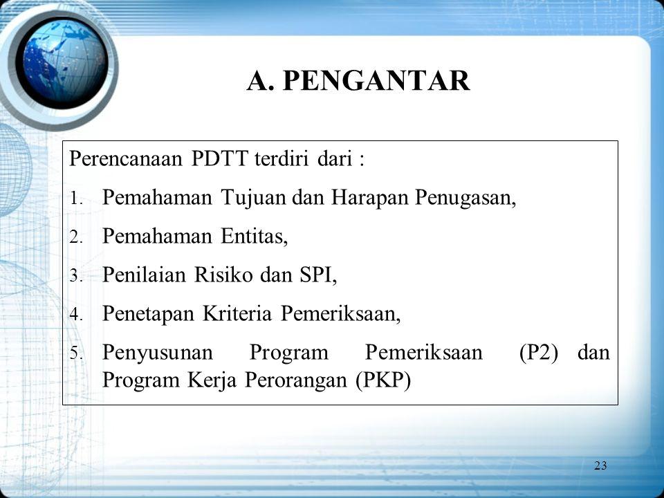 A. PENGANTAR Perencanaan PDTT terdiri dari :