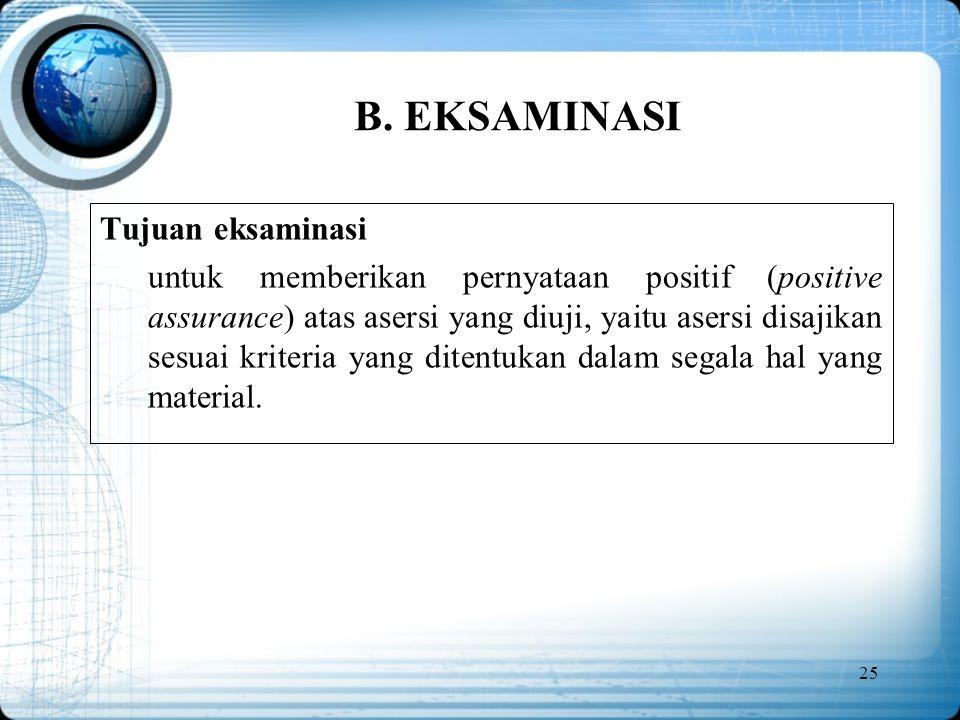 B. EKSAMINASI