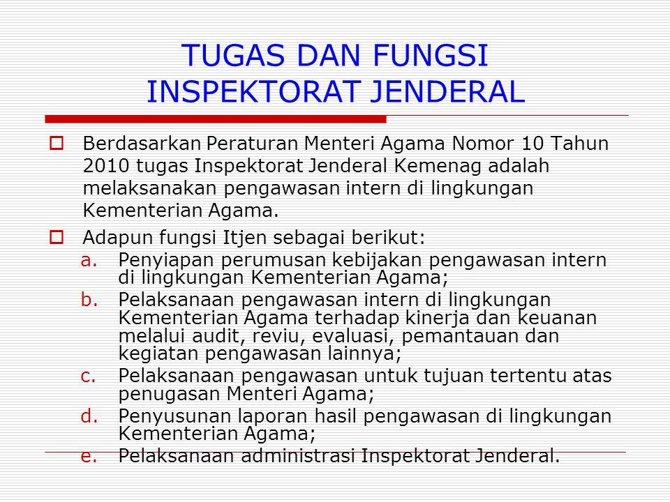 TUGAS DAN FUNGSI INSPEKTORAT JENDERAL