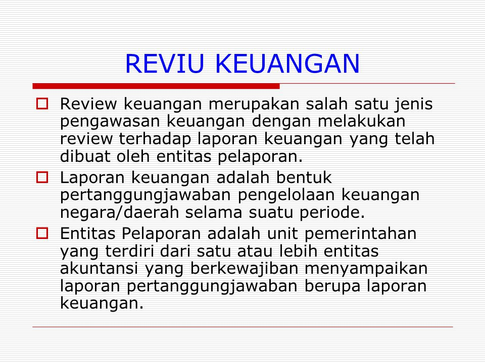 REVIU KEUANGAN