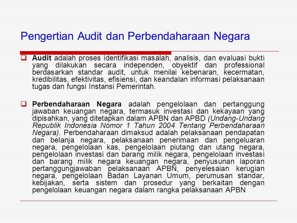 Pengertian Audit dan Perbendaharaan Negara