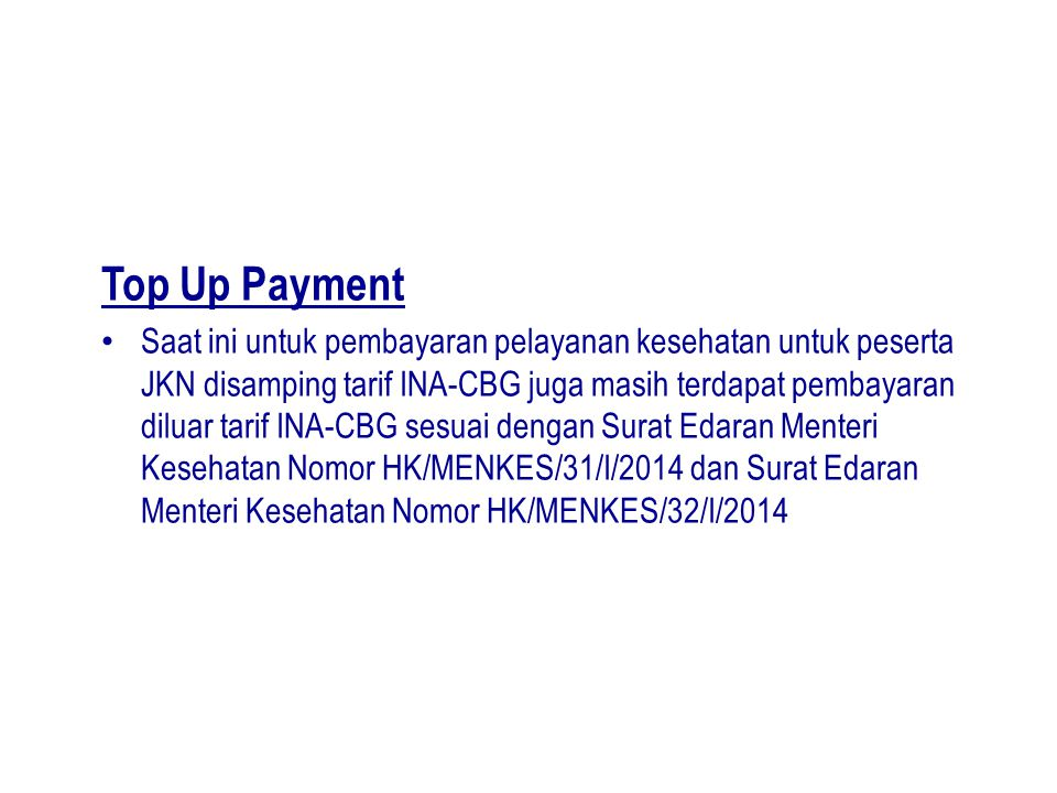 Top Up Payment