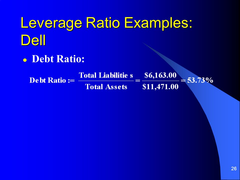Leverage Ratio Examples: Dell