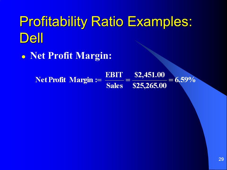 Profitability Ratio Examples: Dell