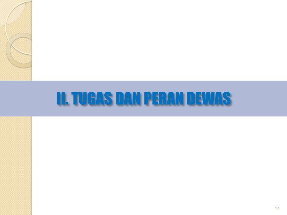 II. TUGAS DAN PERAN DEWAS