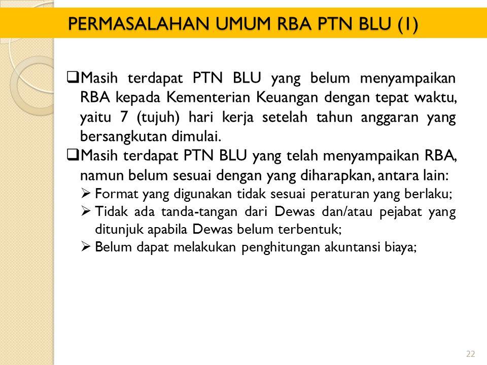 PERMASALAHAN UMUM RBA PTN BLU (1)