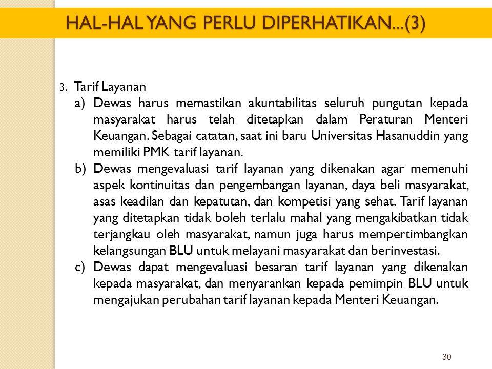 HAL-HAL YANG PERLU DIPERHATIKAN...(3)