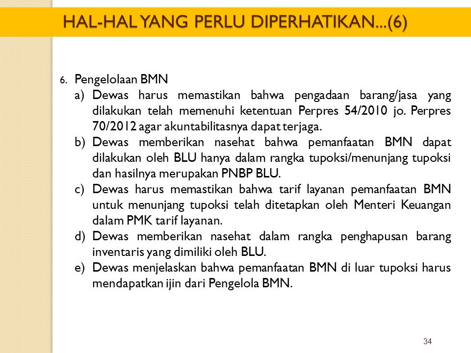 HAL-HAL YANG PERLU DIPERHATIKAN...(6)