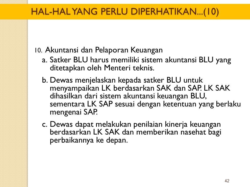 HAL-HAL YANG PERLU DIPERHATIKAN...(10)