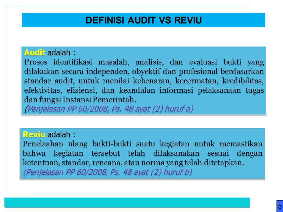 DEFINISI AUDIT VS REVIU