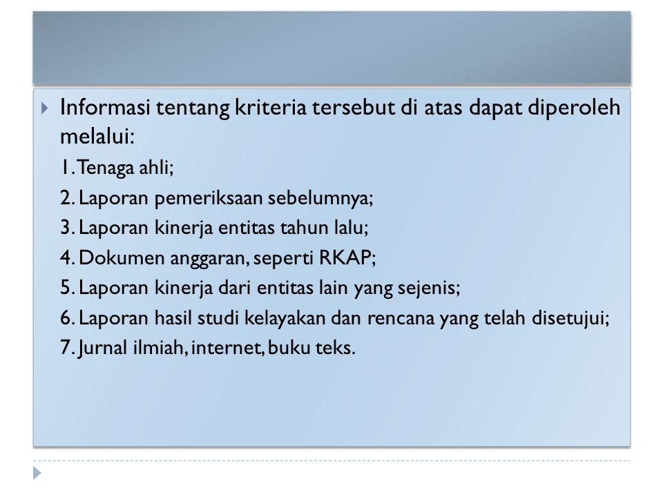 Informasi tentang kriteria tersebut di atas dapat diperoleh melalui: