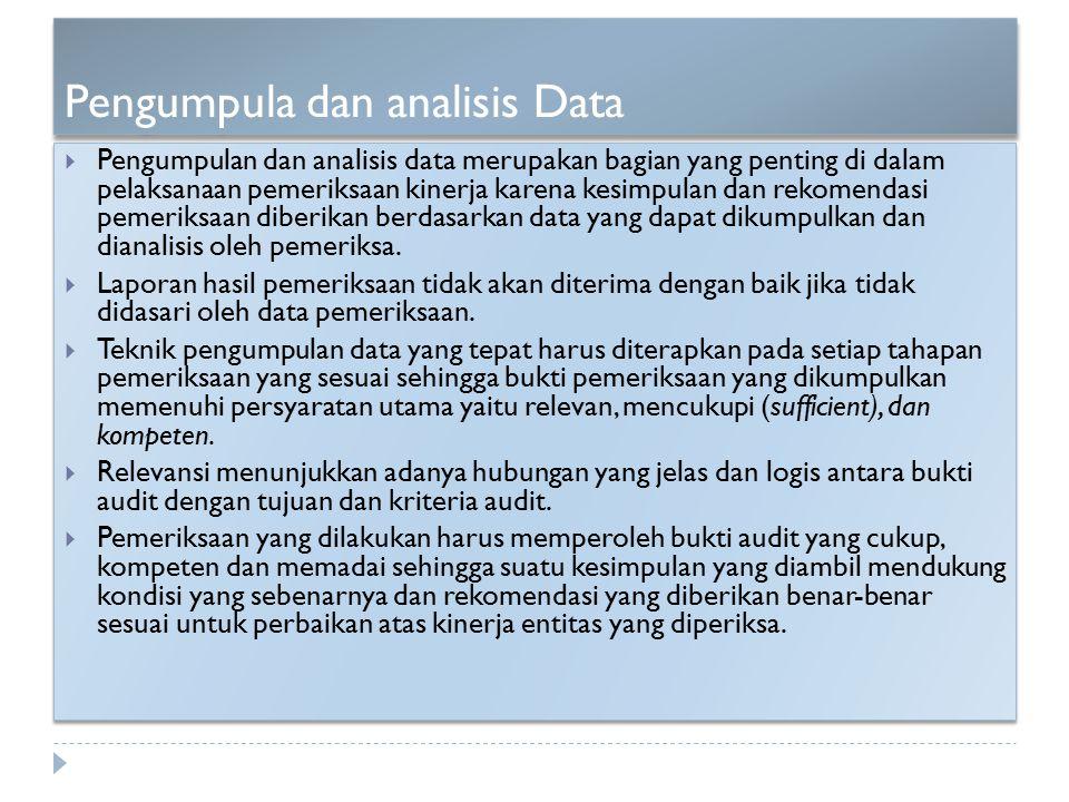 Pengumpula dan analisis Data