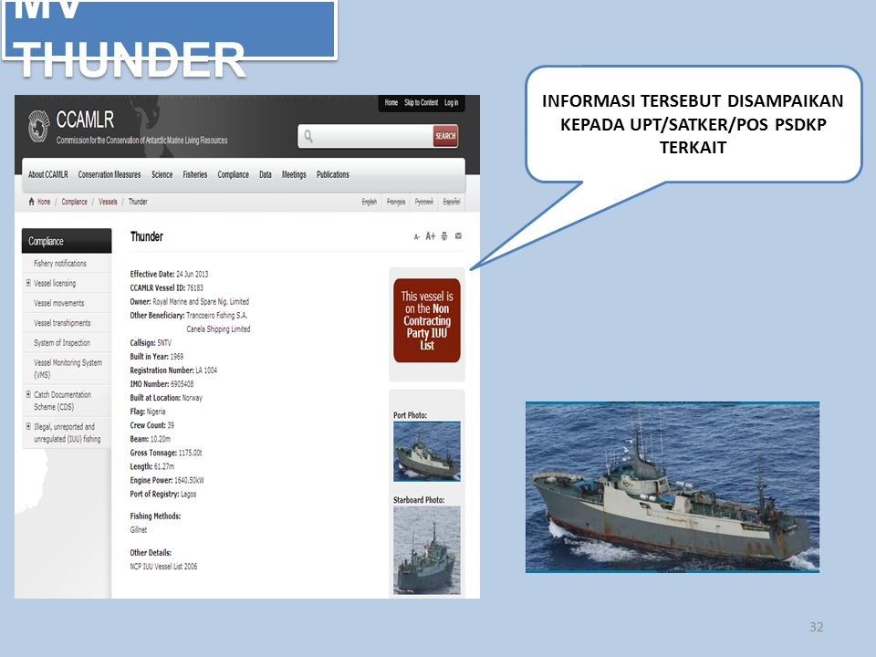 INFORMASI TERSEBUT DISAMPAIKAN KEPADA UPT/SATKER/POS PSDKP