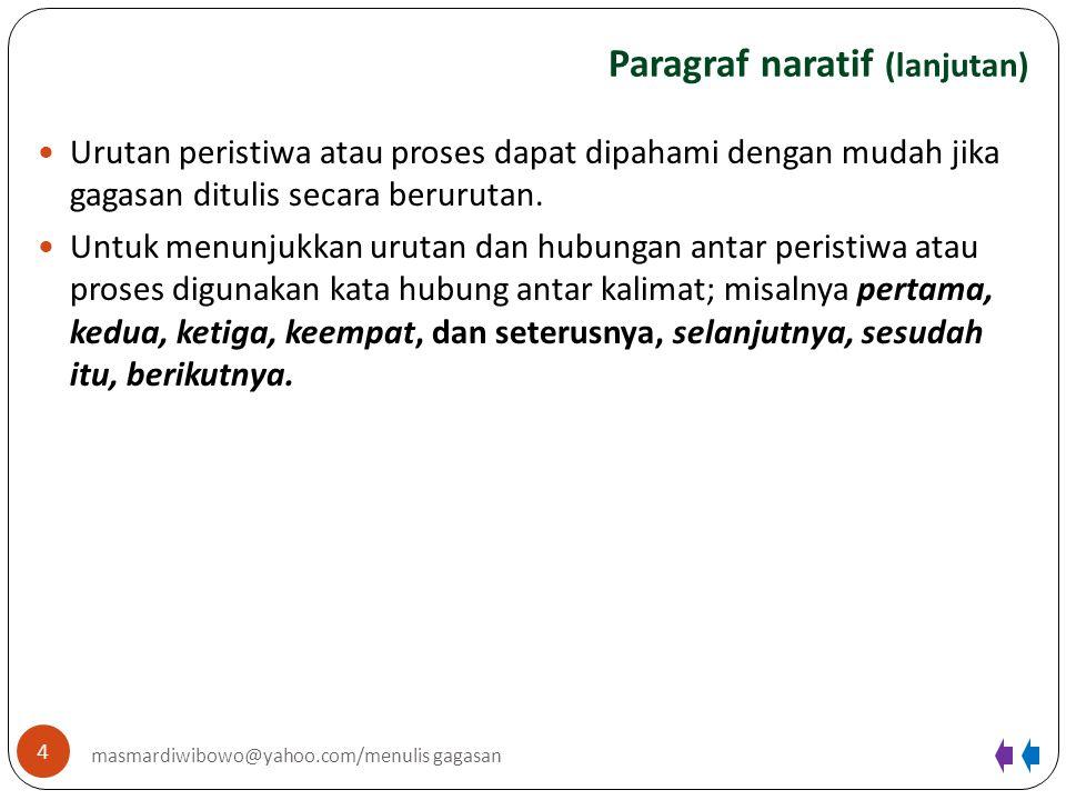 Paragraf naratif (lanjutan)