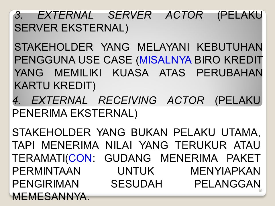 3. EXTERNAL SERVER ACTOR (PELAKU SERVER EKSTERNAL)