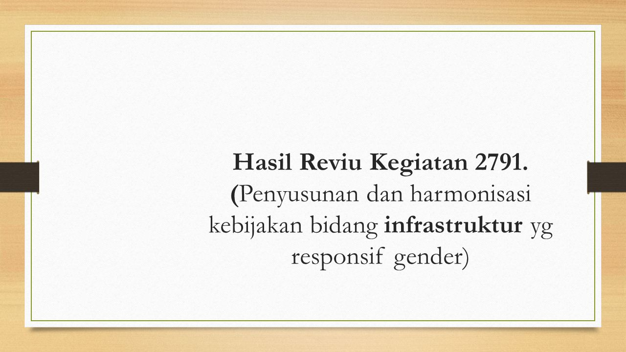 Hasil Reviu Kegiatan 2791.