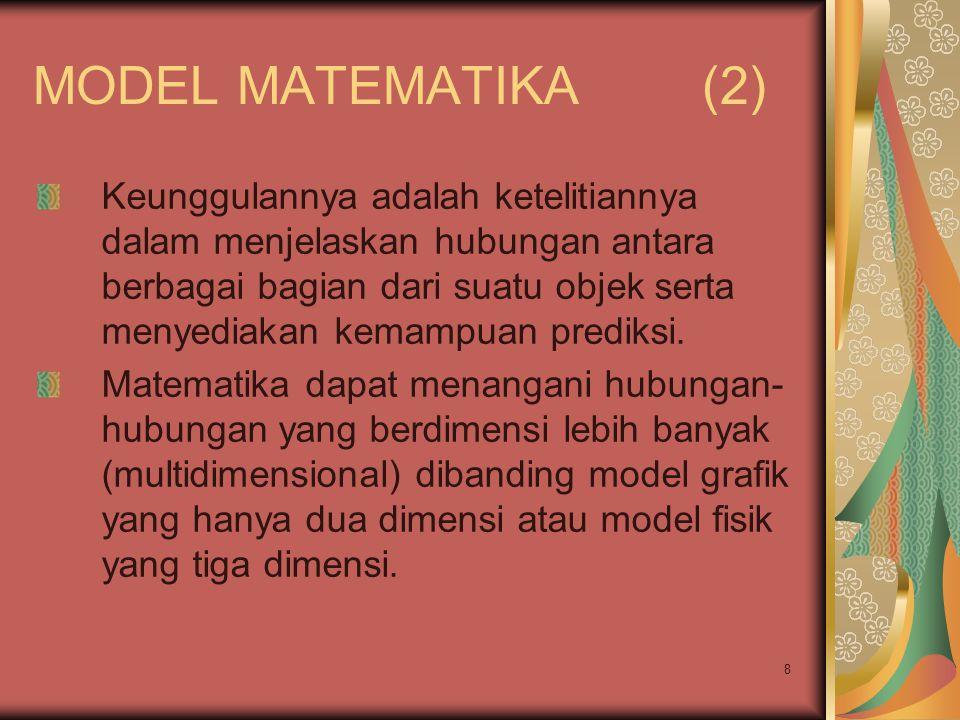 MODEL MATEMATIKA (2)