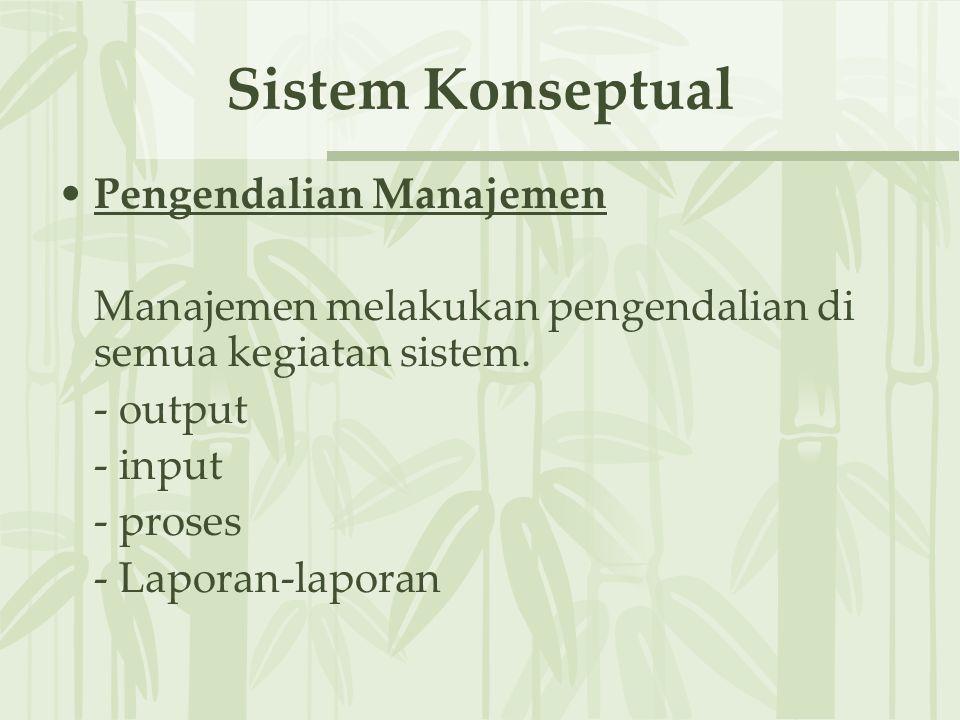 Sistem Konseptual Pengendalian Manajemen