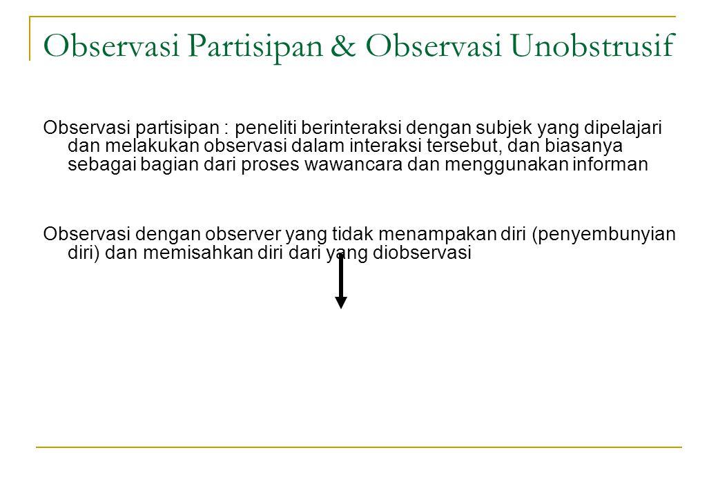 Observasi Partisipan & Observasi Unobstrusif