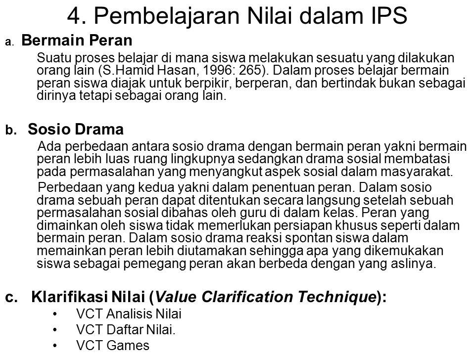4. Pembelajaran Nilai dalam IPS