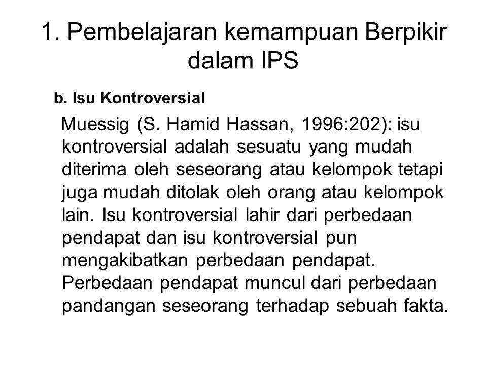 1. Pembelajaran kemampuan Berpikir dalam IPS